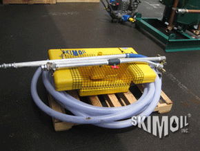 Floating Oil Skimmer and control wand